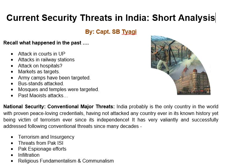 security threat to india essay
